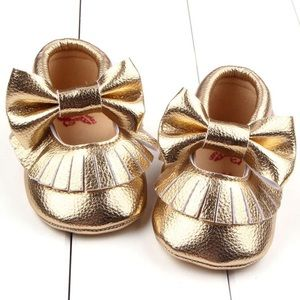 Other - Gold Mary Jane moccasins