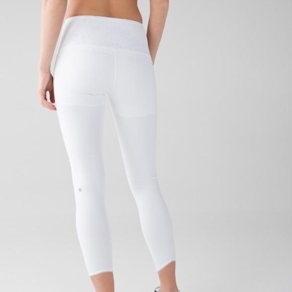 lululemon athletica - Unique white lululemon leggings Sz ...