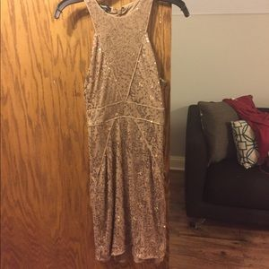 Gold sequin dress!
