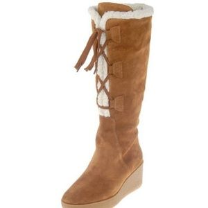 Michael Kors Shoes - Michael Kors Suede Wedge Boots