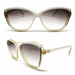 NINA RICCI Vintage Sunglasses, White!, Deadstock
