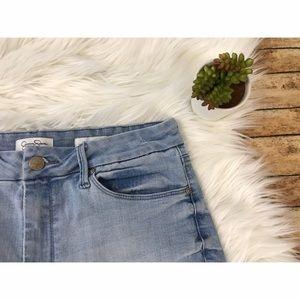 Jessica Simpson Pants - Jessica Simpson Uptown HighRise Lace Trim Shorts