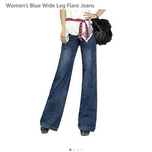 WHBM Jeans Pans Bottoms Flare Streight Wide Leg