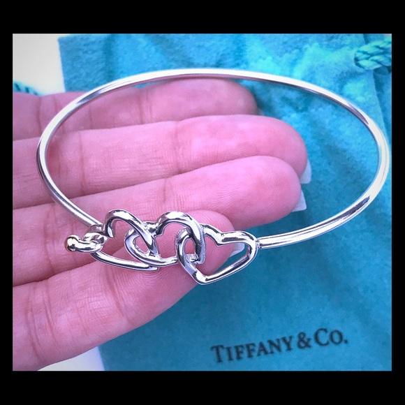 Tiffany Co Jewelry Tiffany Co Vintage 3 Heart Bangle Bracelet Poshmark