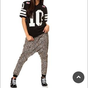 One Teaspoon Renegade Leopard Haram Print Pants