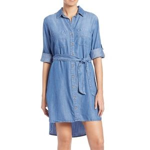 Anthropologie Cloth & Stone Denim Chambray Dress S
