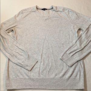 GAP Sweaters - GAP light heather gray vneck cotton sweater