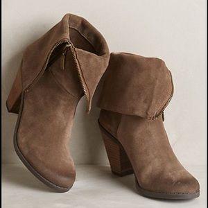 Adam Tucker Shoes - Adam Tucker Brown Suede Ankle Boots