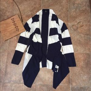 Sweaters - *MOVING SALE*BUY NOW* Navy& White Striped Cardigan