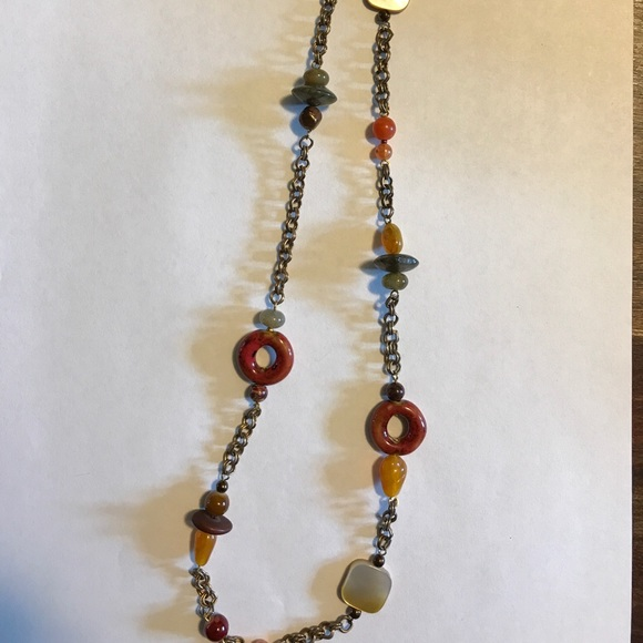 sale handmade artisan beaded chain necklace 48 quot os from