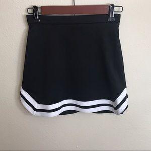 Black and white cheerleading skirt!