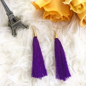 Jewelry - Purple tassel dangle earrings