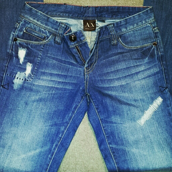 71% off Armani Exchange Denim - Armani Exchange blue straight leg jeans size 2 from Dinau0026#39;s ...
