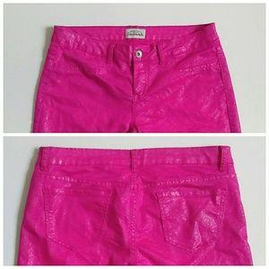 Aeropostale Jeans - ⬇Ashley Ultra Hot Pink Skinny Jeans Sz. 11-12