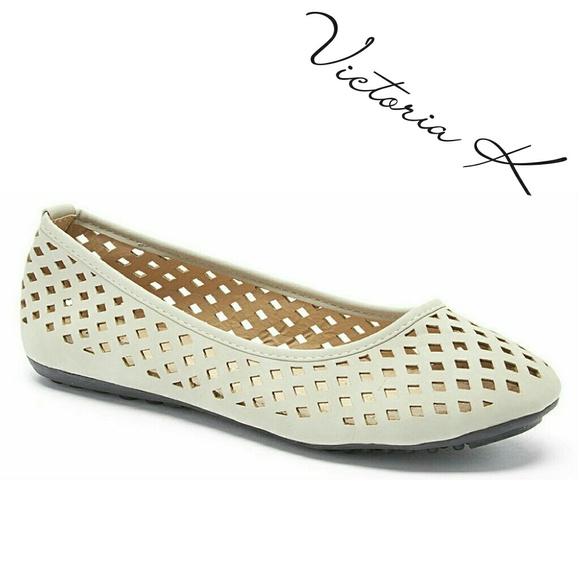 8cd2de992 Tory K Shoes   Victoria K Women Ballet Flats B1812 Gray   Poshmark