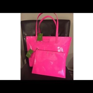 Kate Spade Metro Harmony Tote & Large Pouch Pink