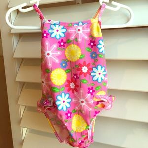 I Play Other - I Play floral swimsuit 12M