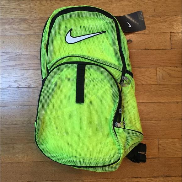 6f57a39668 ☀️NWT Nike Brasilia Mesh Volt Neon Backpack