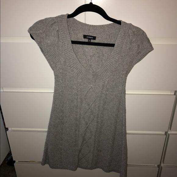 Express Dresses & Skirts - Express Gray Sweater Dress