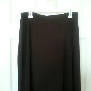 Ambiance Apparel Dresses & Skirts - NWOT Basic Dark Brown Maxi Skirt