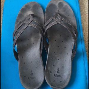 Ahnu Shoes - Ahnu Hanaa Sandals 9 Metallic Black
