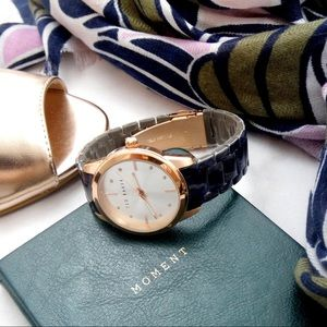 Ted Baker London Accessories - Ted Baker Rose Gold and Acetate Bracelet Watch