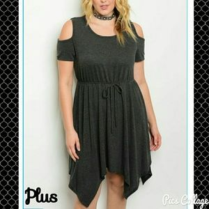 MOVING SALE! *HP!*Charcoal Cold-Shoulder Dress