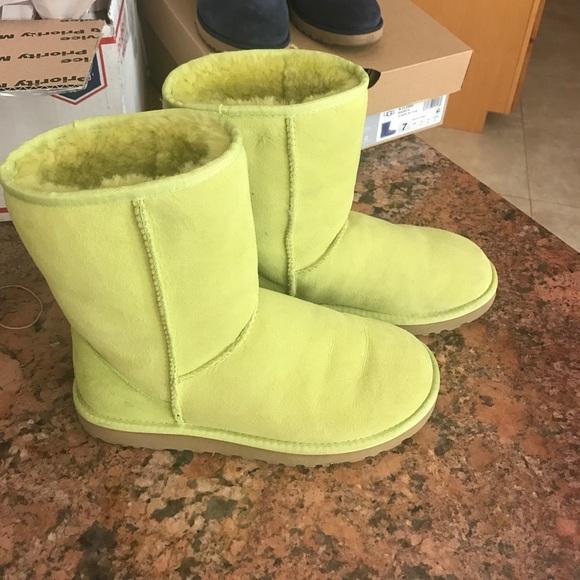 Neon green uggs