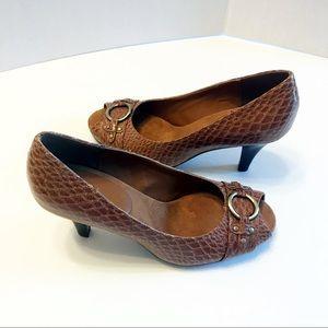 A2 By Aerosoles Shoes - A2 aerosoles faux snakeskin open toe heels