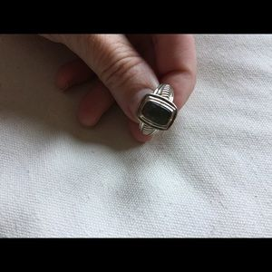 Jewelry - Sterling Silver & Square Abalone Ring Size 6