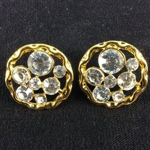 Gold Bling Stud Earrings