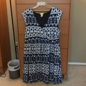 ModCloth Dresses & Skirts - Blue and white dress NWOT