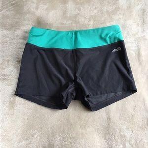 Avia Pants - Avia Grey & Teal Workout Shorts