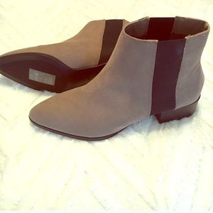 H&M faux suede booties