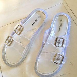 Shoes Clear Jelly Sandals Birkenstocks W Two Buckles Poshmark