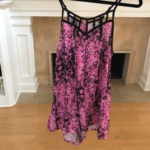 LF stores Pants - LF Floral pink and black romper / playsuit
