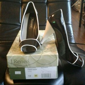 J. Renee Shoes - Patent Leather peep toe heels