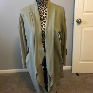 Zara olive green long length lightweight sweater