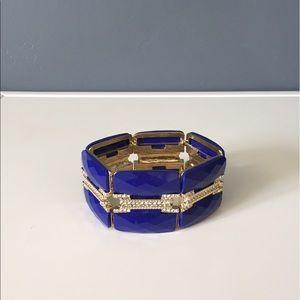 Anna & Ava Jewelry - Anna & Ava Gold/Blue Luxe Stretch Bracelet
