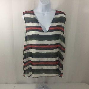 Halogen Tops - ❤️ NWT Halogen Womens Sleeveless Striped Blouse