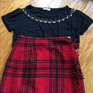 Eddie Bauer Dresses & Skirts - Eddie Bauer red plaid wool skirt