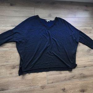 Vera Wang Sweaters - Vera wang bat sweater short sleeves loose blue