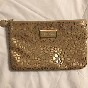 Ivanka Trump Handbags - Gold and Tan Ivanka Trump Clutch