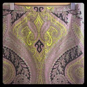 J. Crew Dresses & Skirts - J.Crew Sovereign Paisley Long Pencil Skirt 00