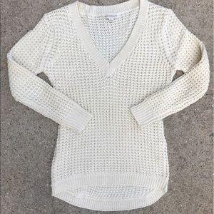 Cozy Waffle V-neck sweater