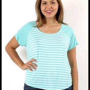 Striped Turquoise Tee