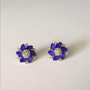 Anna & Ava Jewelry - Anna & Ava Gold/Blue Pinwheel Stud Earrings