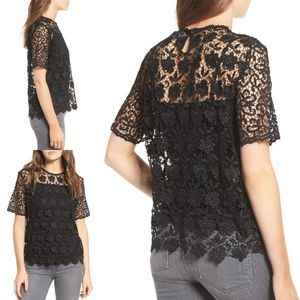 Sincerely Jules lace blouse black nwt s