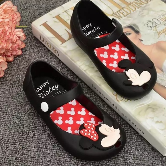 aab37a245a05 NEW Jelly Shoes Happy Mickey Mouse   Minnie Mouse