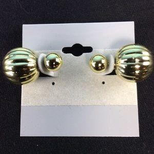 Jewelry - New Gold Metallic Double Ball Stud Earrings